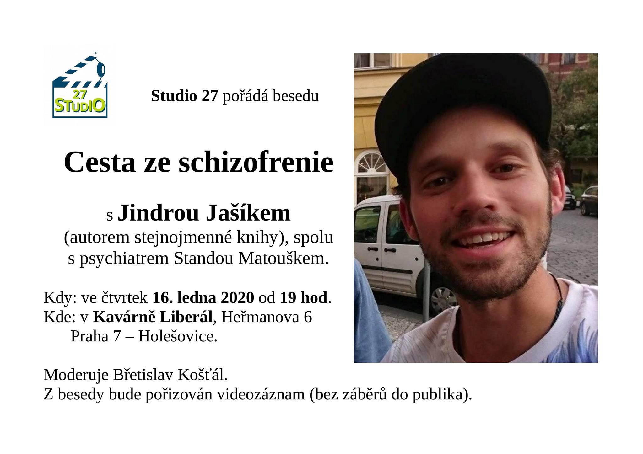Studio 27 - Beseda s Jindřichem Jašíkem, 16.1.2020 v 19h v Kavárně Liberál